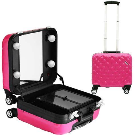 makeup suitcase with lights and mirror makeup suitcase on wheels makeup vidalondon