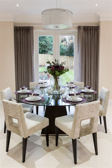 Decorating Ideas For Dining Room Table by 40 Glass Dining Room Tables To Rev With From Rectangle
