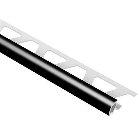 schluter rondec black 3 8 in x 8 ft 2 1 2 in pvc