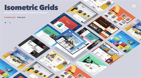 cascading grid layout library isometric and 3d grids codrops