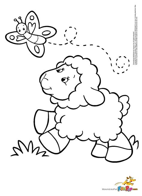 butterfly sheep coloring page colorbook pinterest