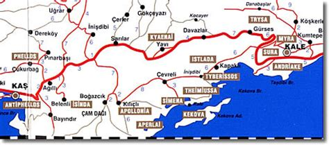 turkey archaeological sites map lycia complete archaeological guide
