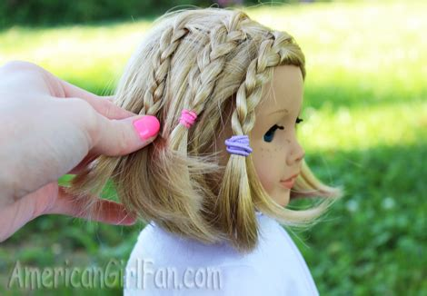 easy hairstyles for american dolls with hair and easy back to school doll hairstyles americangirlfan