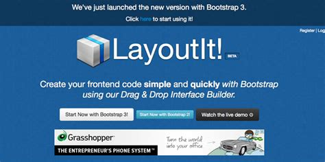 layoutit interface builder for bootstrap 7 bootstrap editors for rapid development of responsive
