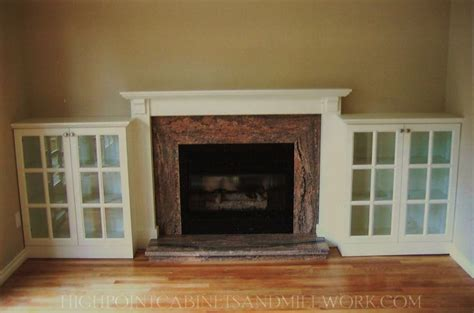 Built In Cabinets Around Fireplace by Fireplace Built In Bookshelves Movin On Up