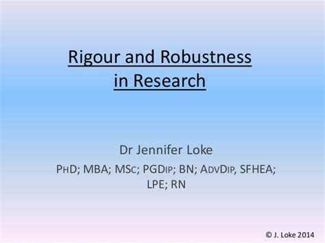 Phd Mba Signature by Rigour Robustness In Research 16 April 2015