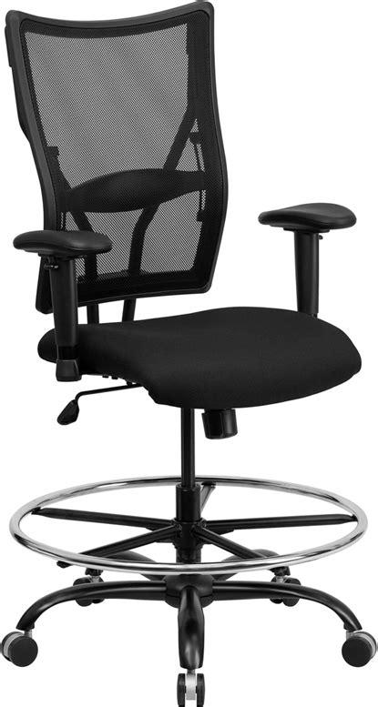 hercules big and drafting chair hercules series 400 lb capacity big and black mesh