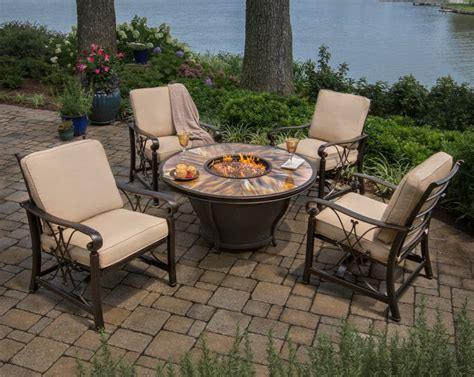 Moonlight Pits moonlight firepit paired with seville chairs from agio www agio usa 2013 line