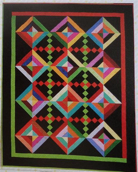 Patchwork Press - ojo de dios patchwork quilt quilting pattern by cut