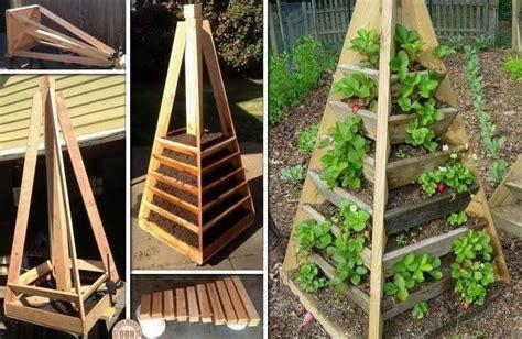 Vertical Planter Diy by Diy Vertical Garden Pyramid Planter