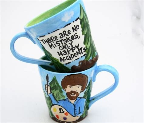 bob ross painting coffee mug bob ross mugs by lennymud on etsy bikes and the city