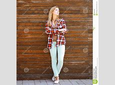 Modern Pretty Hipster Girl In Smart Casual Clothes Stock ... Hipster Girl Clothes