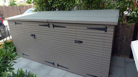 Front Garden Bike Shed by Mosaic Tile Path Yellow Brick Front Garden Wall