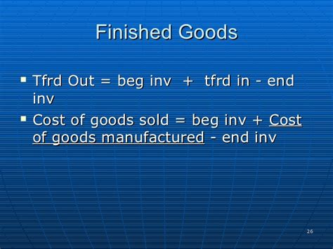 pattern of cost of goods sold cost of sales