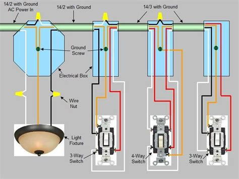 4 way switch troubleshooting wiring diagram with description