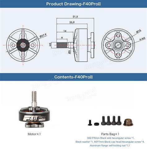 T Motor F40 Pro 2600kv Brushless Motor Multirotor 1pc T Motor F40 Pro Ii 1600kv 2400kv 2600kv 3 4s Sans Balais