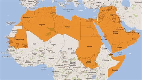 map of arab countries arab countries images