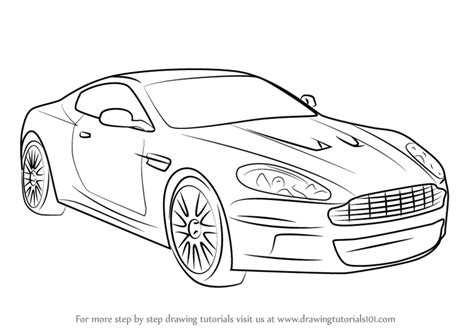 how to draw a aston martin learn how to draw aston martin db9 sports cars step by