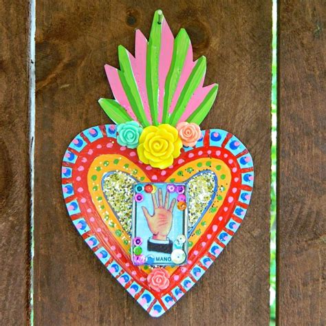 mexican tin folk art    wall decor art  cut