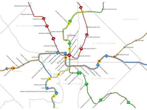 washington dc rail map metro maps