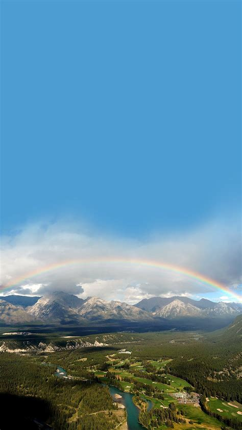 wallpaper android landscape landscape rainbow wallpaper sc smartphone