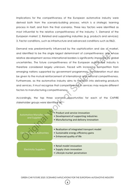 Green Mba Europe by Mba Dissertation Green Car Future 2020 Scenario