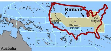 map of kiribati islands australia kiribati working together to better manage