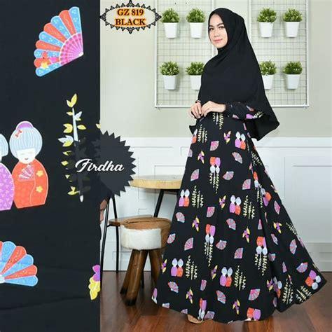 Motif Baju Muslim Terbaru gamis motif unik terbaru gz819hitam model baju gamis terbaru