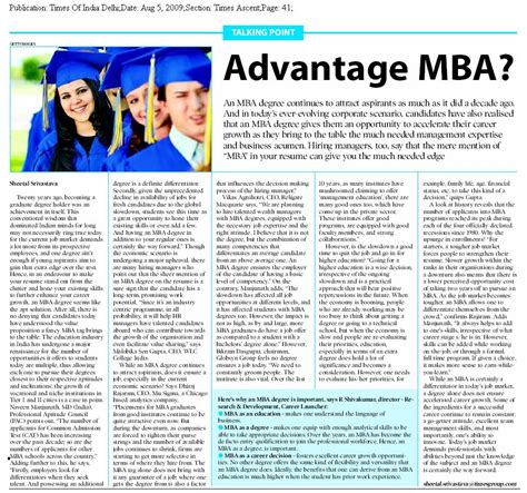 Advantage Of Mba In India by Career Launcher Agartala Learning Center
