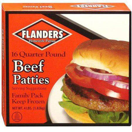 flanders beef patties, 4 lbs walmart.com