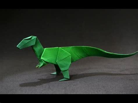 How To Make An Origami Velociraptor - origami dinosaur velociraptor