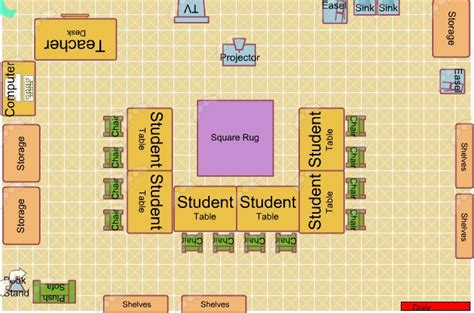 classroom floor plan educational psychology portfolio