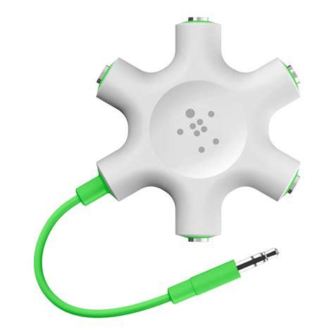 Dijamin Belkin Rockstar 5 Ways 3 5mm Headphone Splitter belkin mixit colour range rockstar multi 5 way splitter