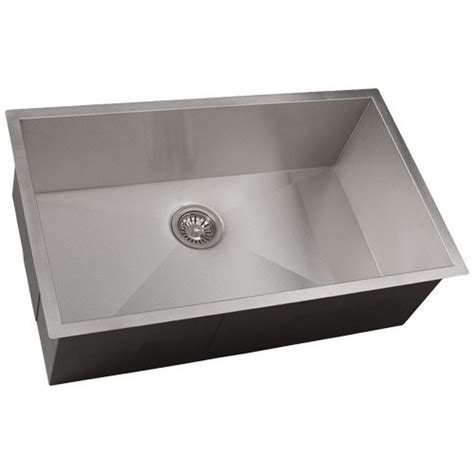 square undermount kitchen sink 26 quot phoenix ph 0763 undermount 16 gauge stainless steel