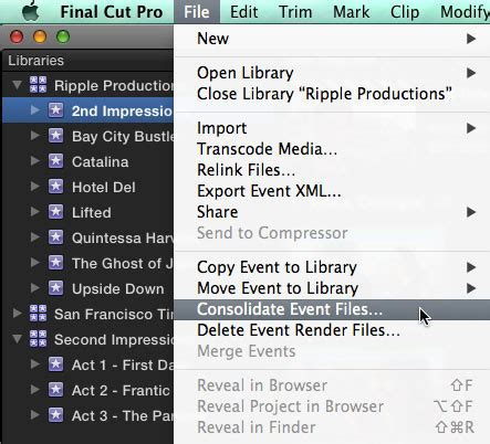 final cut pro library event project final cut pro 10 1 a first look