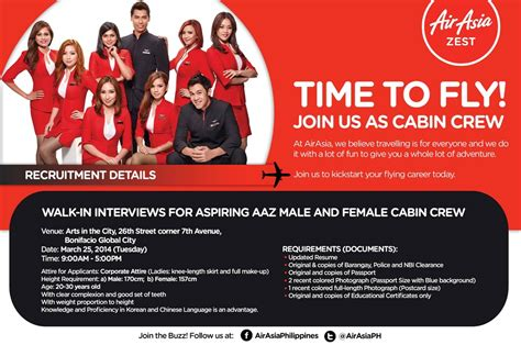 cabin crew qualification air asia cabin crew images