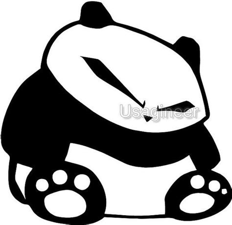 jdm panda sticker japanese jdm glaring panda car macbook decal vinyl