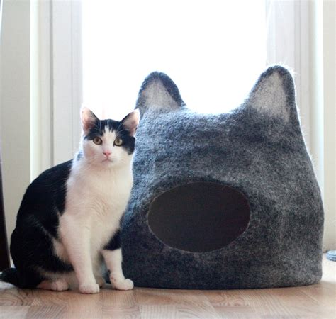 Cat Handmade - handmade cat caves w ears the green