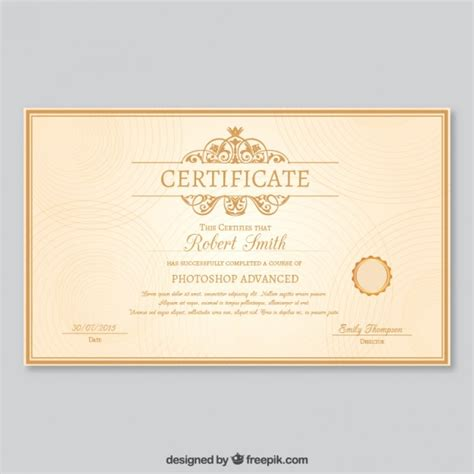 certificate design elegant elegant certificate template vector free download