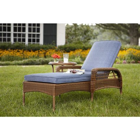 chaise chairs outdoor hton bay brown all weather wicker outdoor