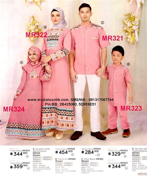 Baju Muslim Pasangan baju muslim pasangan ibu dan anak perempuan baju muslim