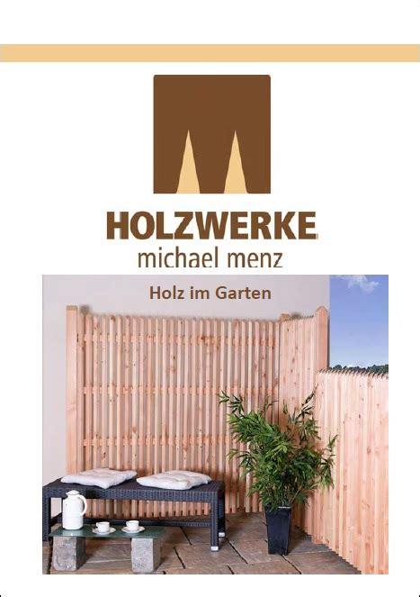 Holz Im Garten Katalog by Menz Holz Katalog M 246 Belideen
