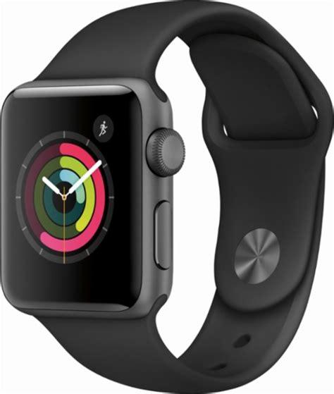 Apple Sport Rubber Iwatch Iwo 2 42mm Gray apple apple series 2 42mm space gray aluminum black sport band gray mp062ll a best buy