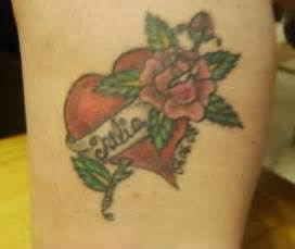 heart tattoos with names in them tattoos with names in them