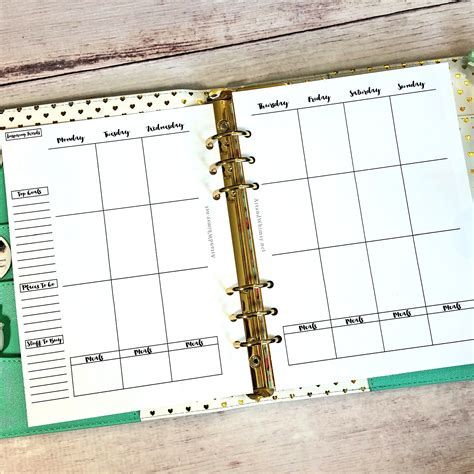 Free A5 Planner Printables