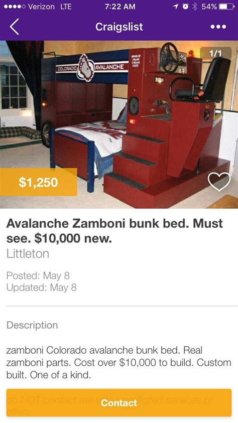 craigslist found scrolling craigslist found this amazing bed coloradoavalanche