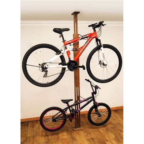 Floor To Ceiling Bike Stand by Floor To Ceiling Bike Storage Rack In Bike Stands