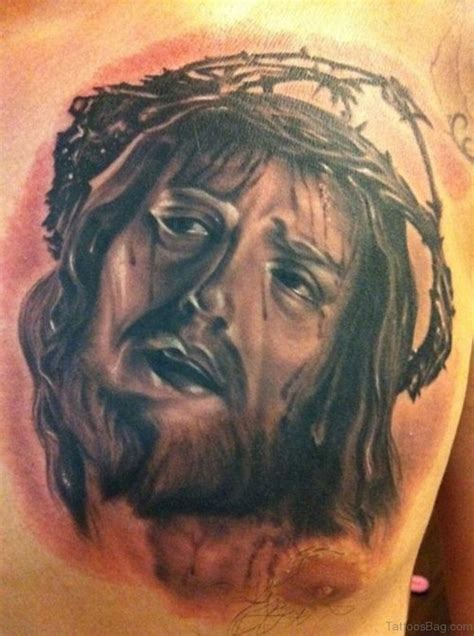 jesus portrait tattoo 45 portrait tattoos on chest