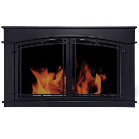 pleasant hearth fieldcrest medium glass fireplace doors fc
