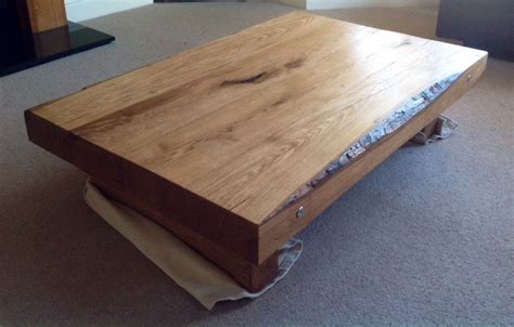 Railway Sleeper Coffee Table by Constructing A Coffee Table From New Oak Railway Sleepers